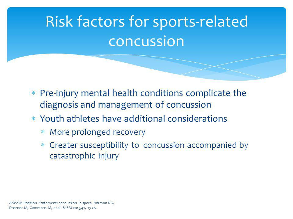 Diagnosis of concussion