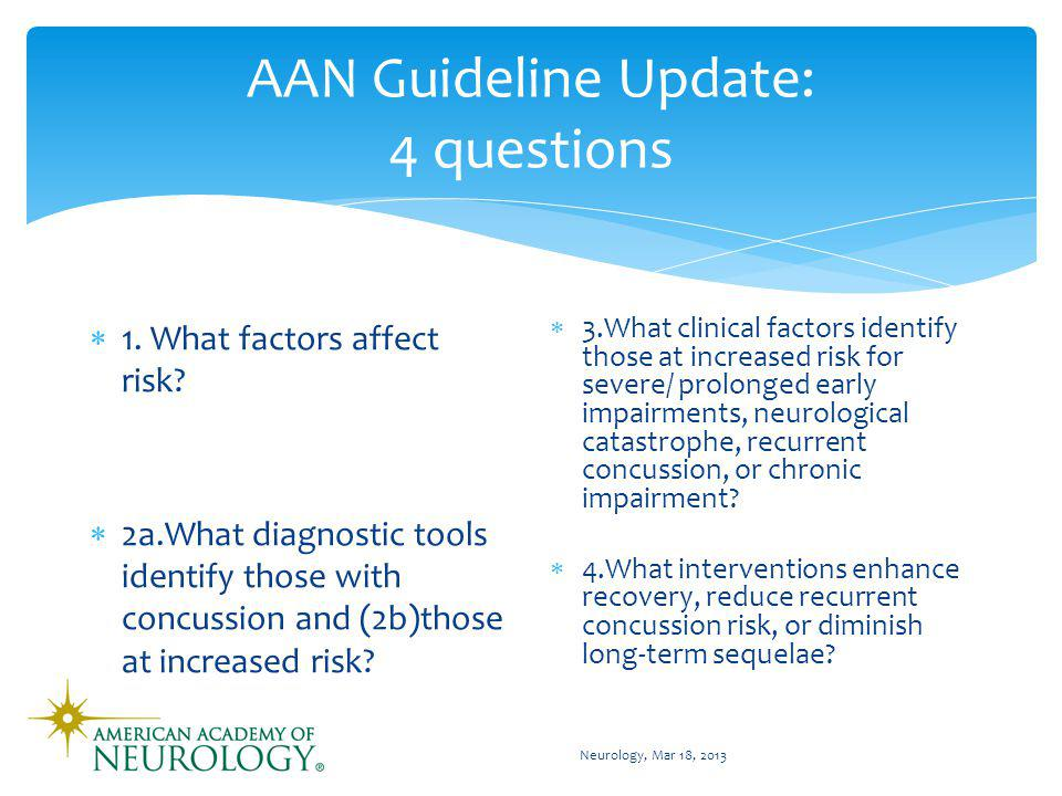AAN Concussion Guidelines