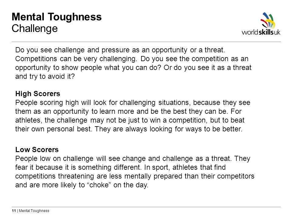 Mental Toughness Challenge