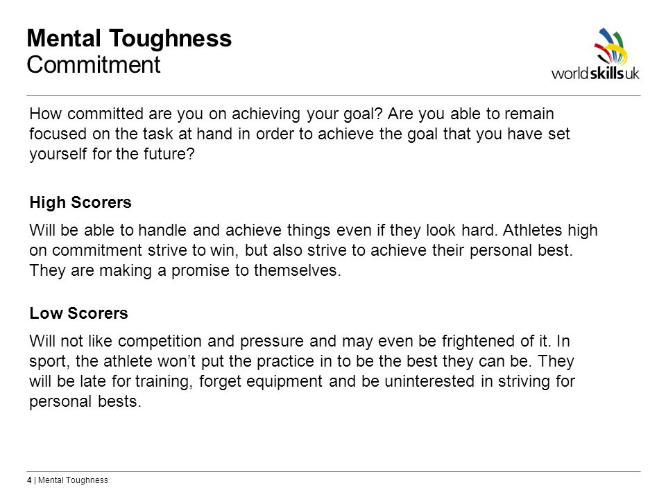 Mental Toughness Commitment