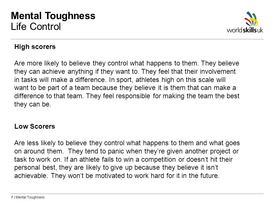 Mental Toughness Life Control