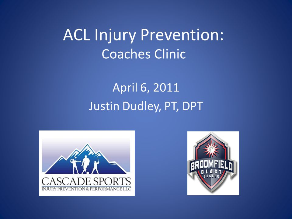ACL Injury Prevention: Coaches Clinic