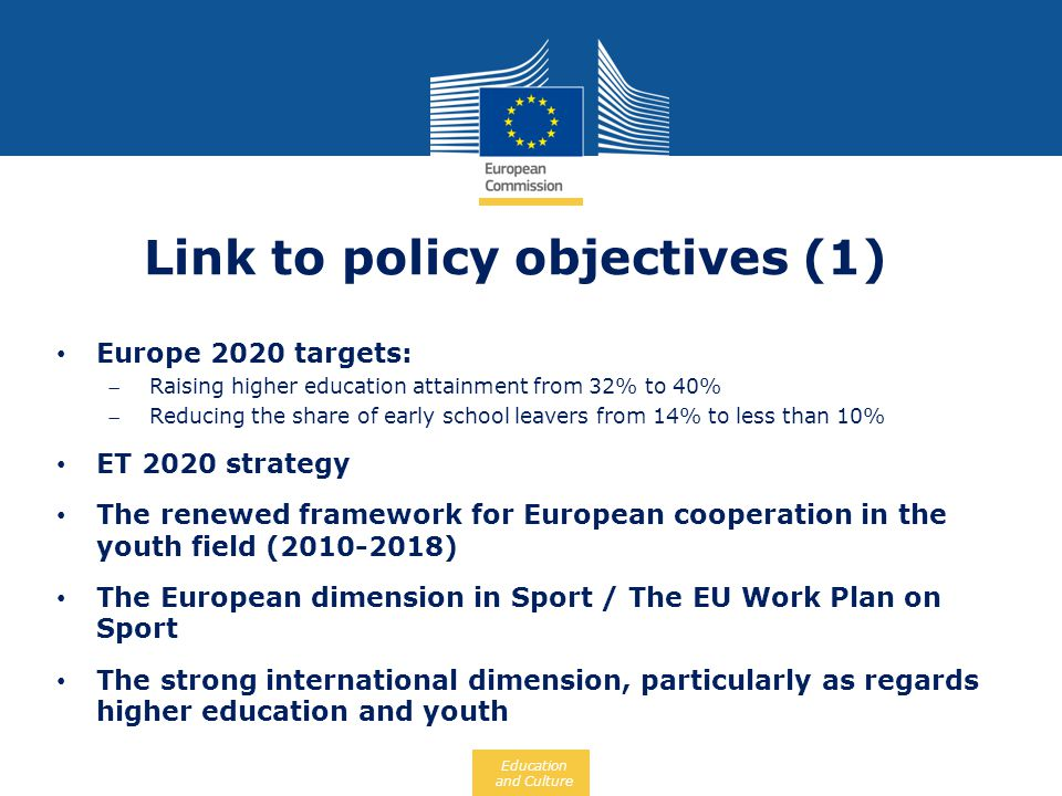 Link to policy objectives (1)