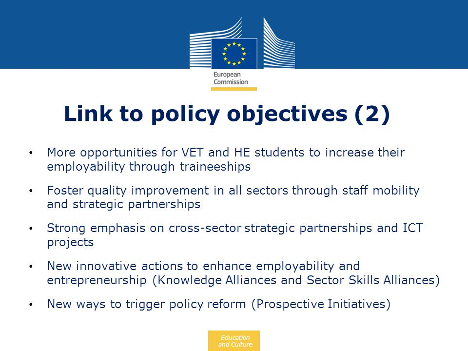 Link to policy objectives (2)
