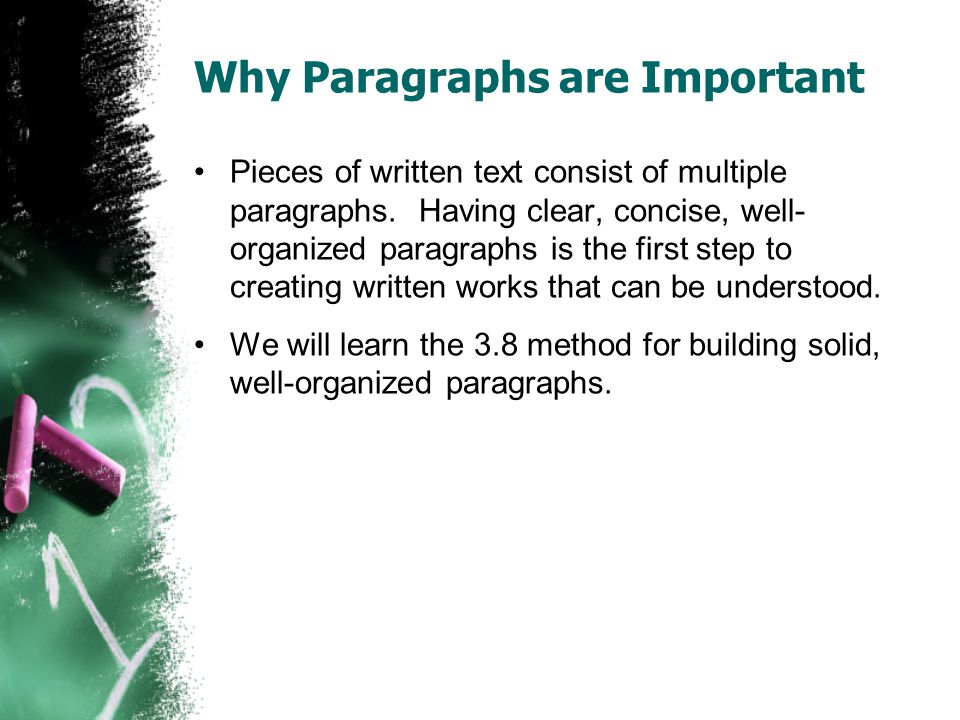 Why Paragraphs are Important