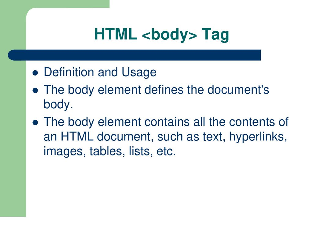 HTML HTML is a language for describing web pages.   ppt download