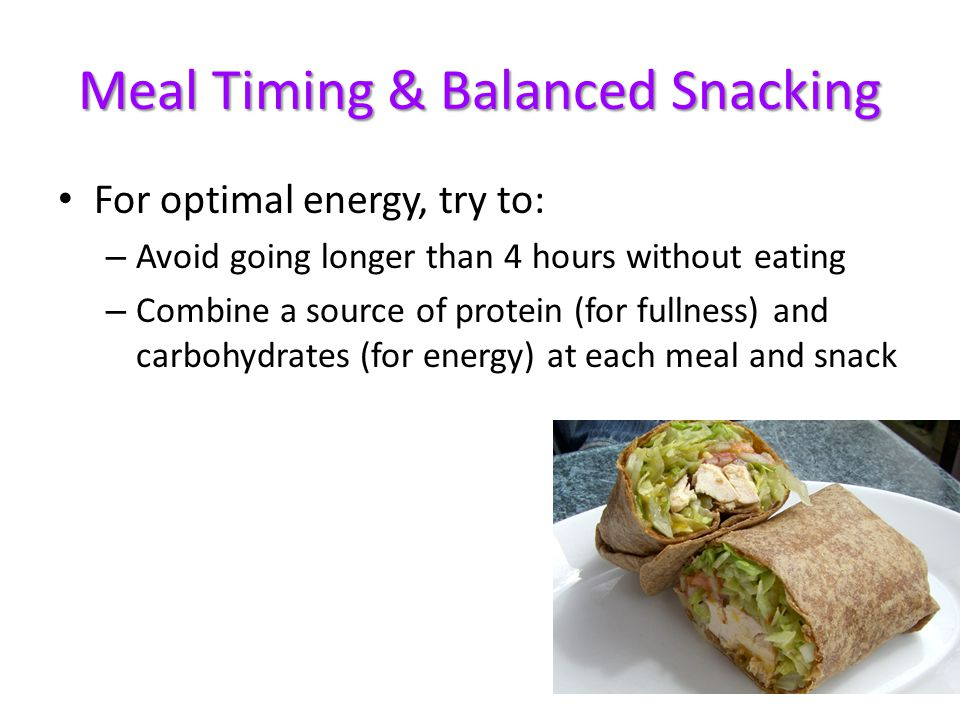Meal Timing & Balanced Snacking