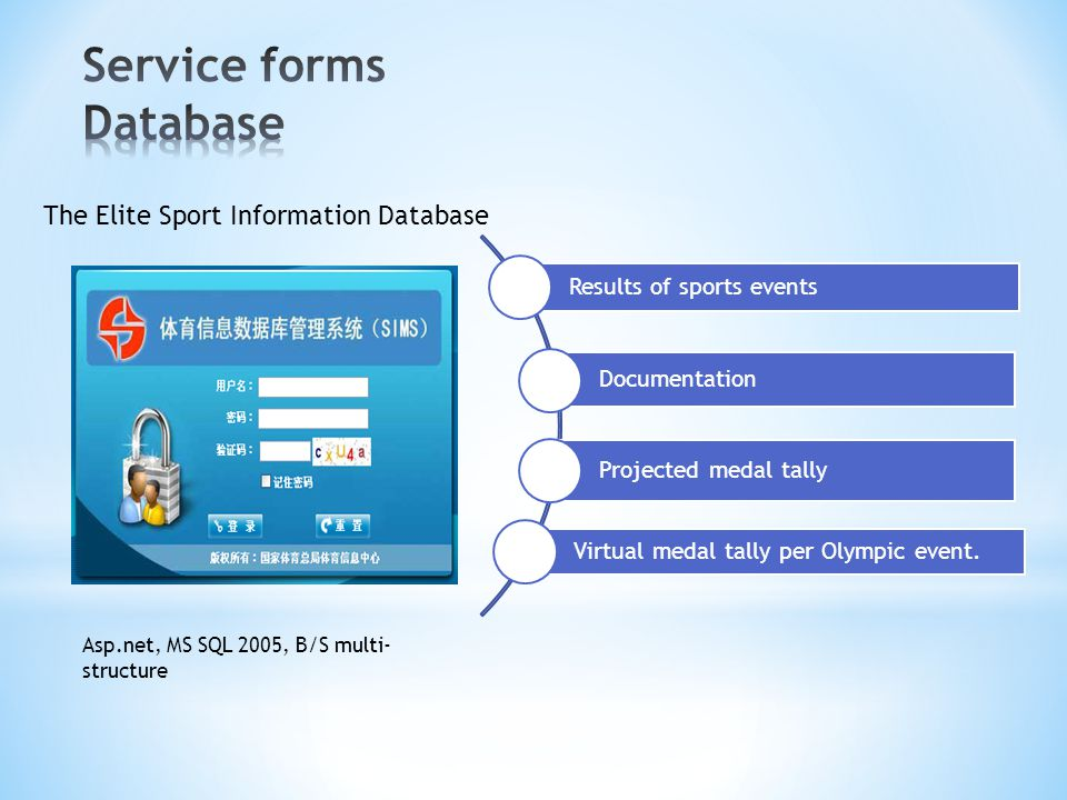 Service forms Database