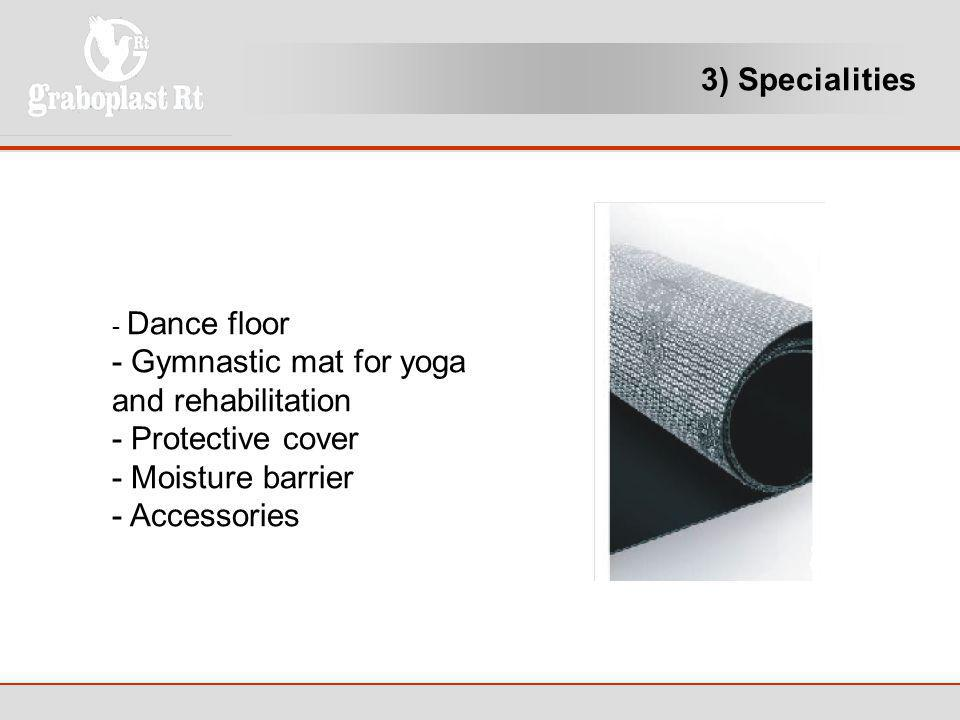 - Gymnastic mat for yoga and rehabilitation - Protective cover