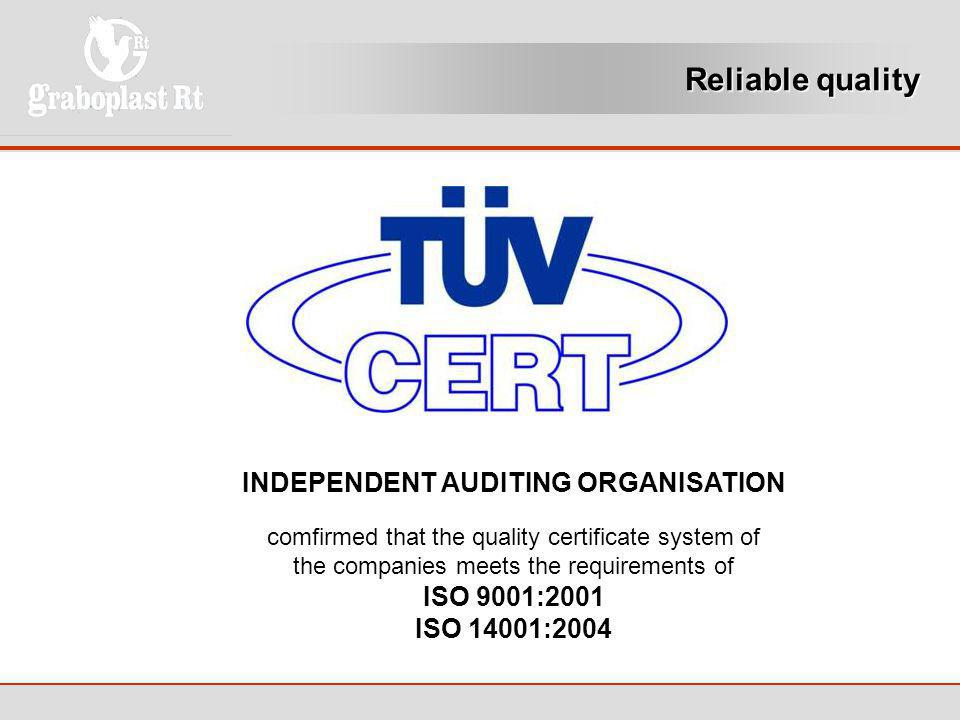 INDEPENDENT AUDITING ORGANISATION
