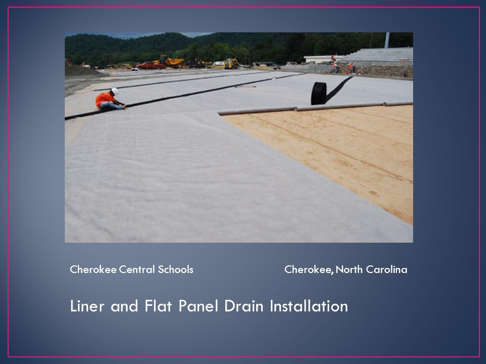 Liner and Flat Panel Drain Installation