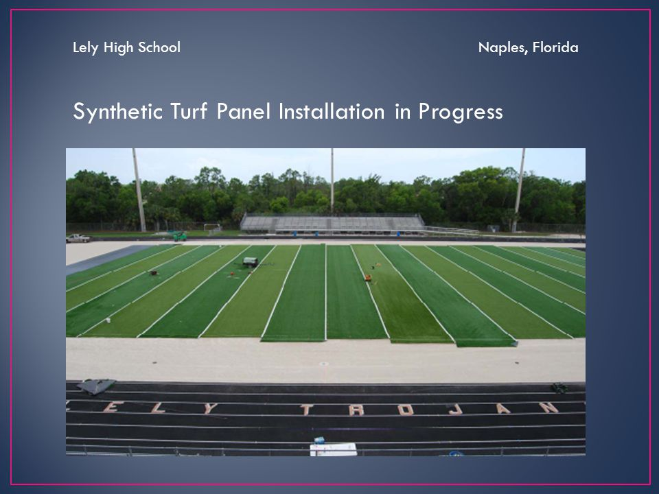 Synthetic Turf Panel Installation in Progress