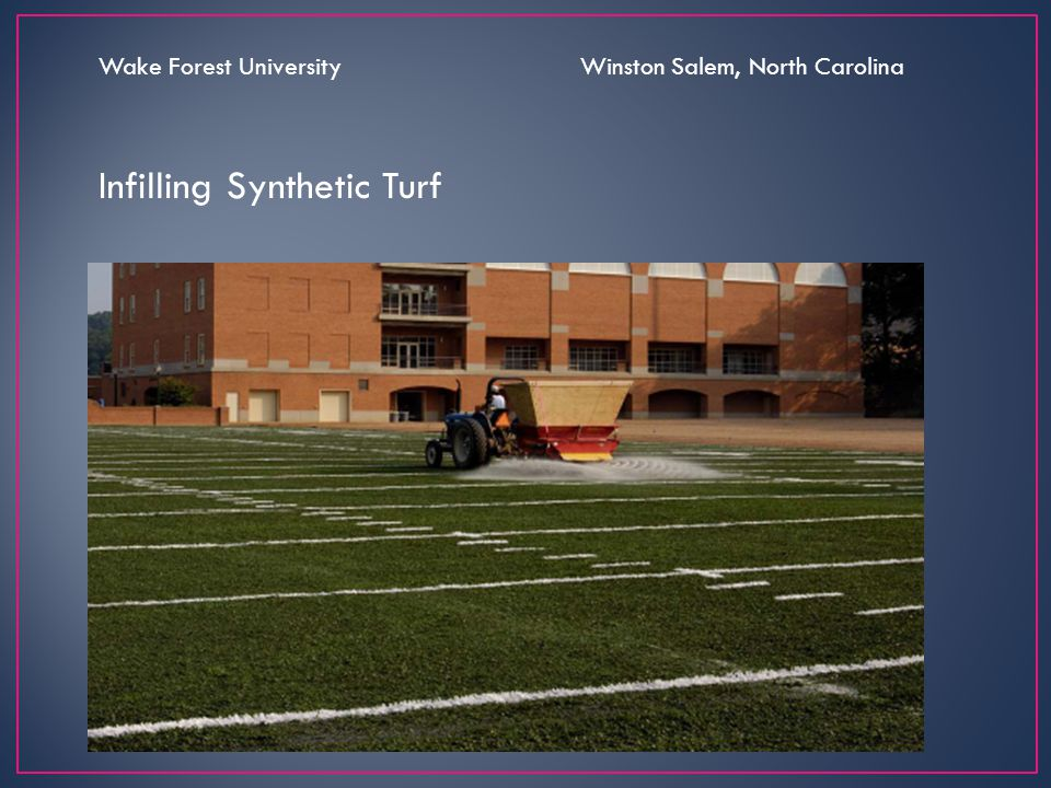 Infilling Synthetic Turf