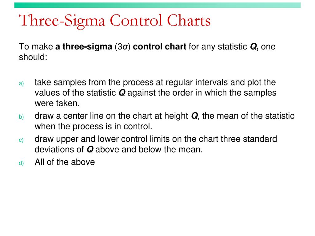 Three Sigma Control Charts