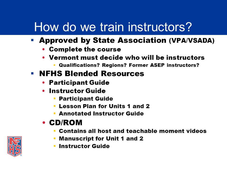 How do we train instructors