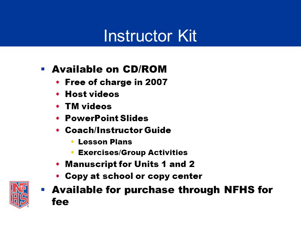 Instructor Kit Available on CD/ROM