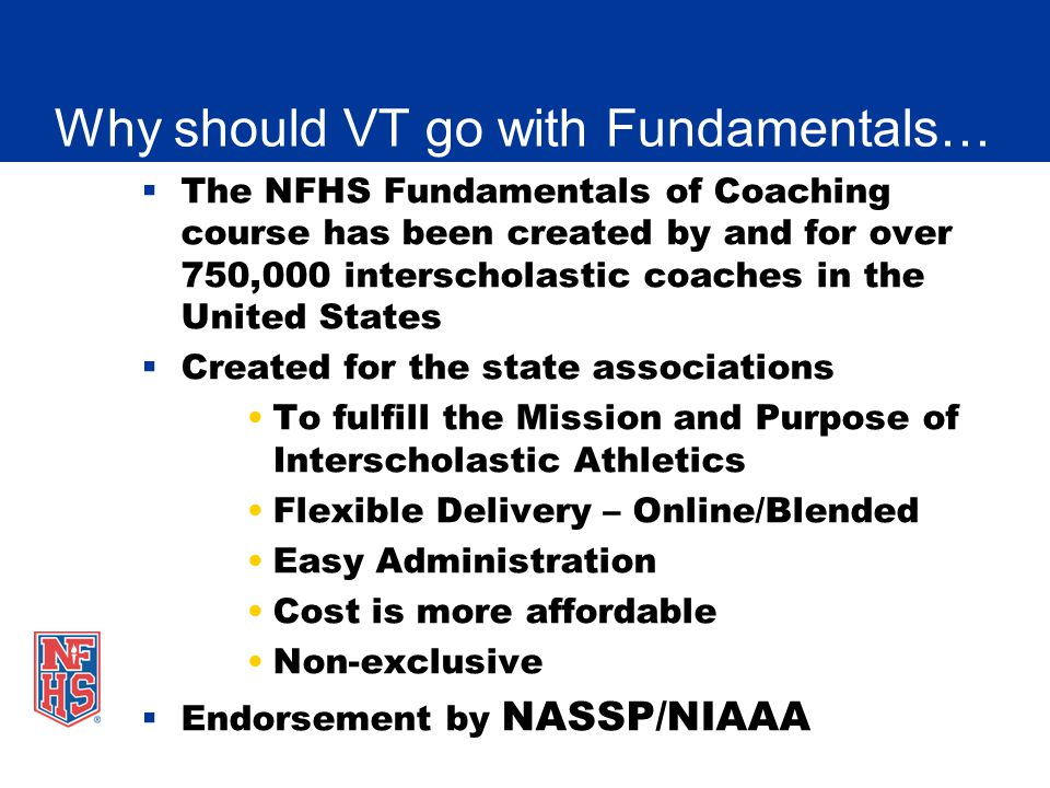 Nfhs fundamentals of coaching presentation ppt video online download why should vt go with fundamentals fandeluxe Images