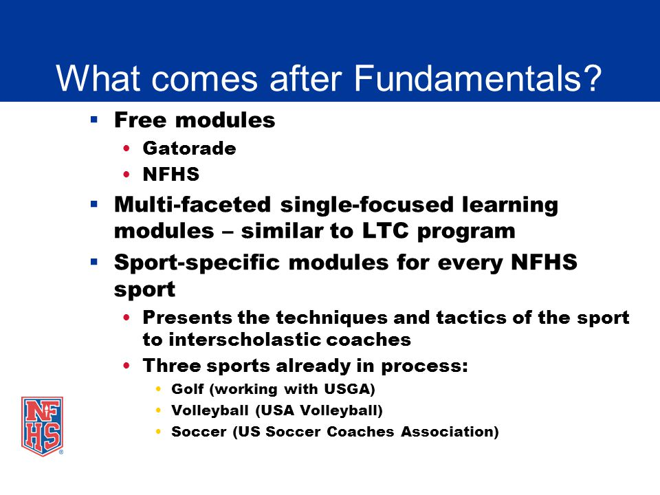 Nfhs fundamentals of coaching presentation ppt video online download what comes after fundamentals fandeluxe Choice Image