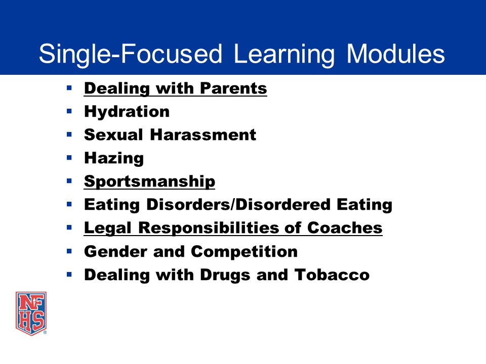 Single-Focused Learning Modules