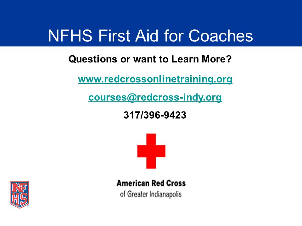 Nfhs fundamentals of coaching presentation ppt video online download nfhs first aid for coaches fandeluxe Choice Image