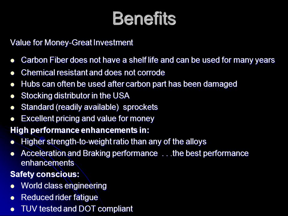 Benefits Value for Money-Great Investment