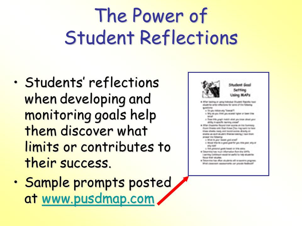 The Power of Student Reflections