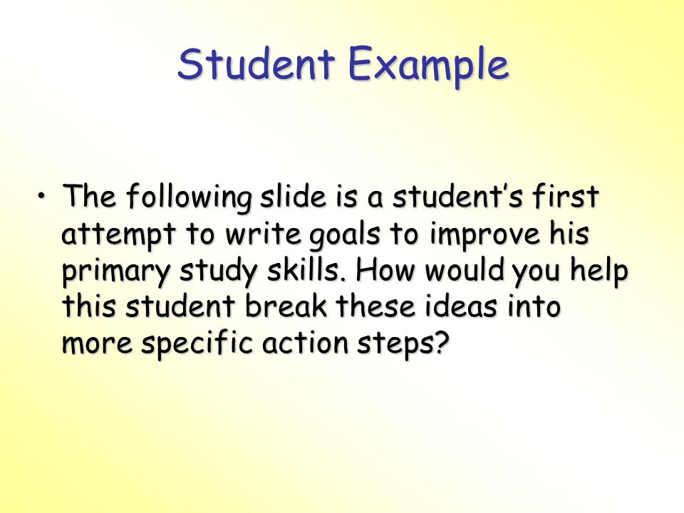 Student Example