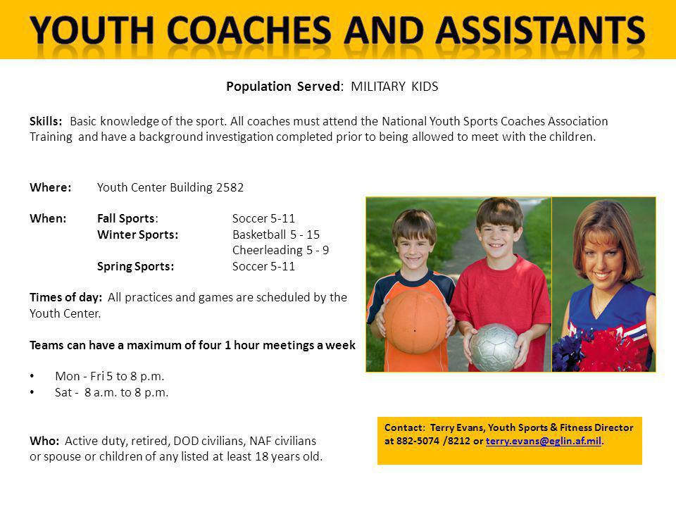 Youth Coaches and Assistants