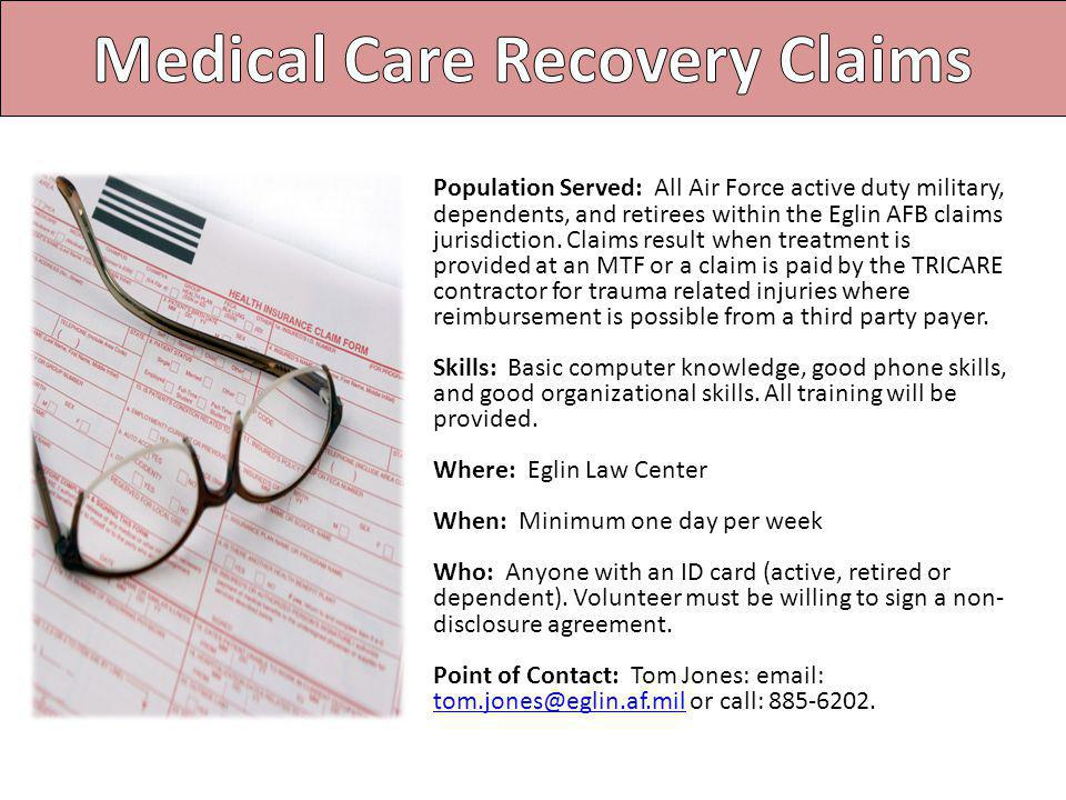 Medical Care Recovery Claims
