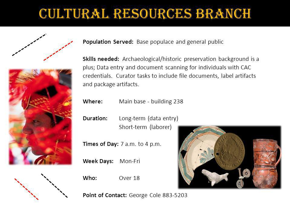 Cultural Resources Branch