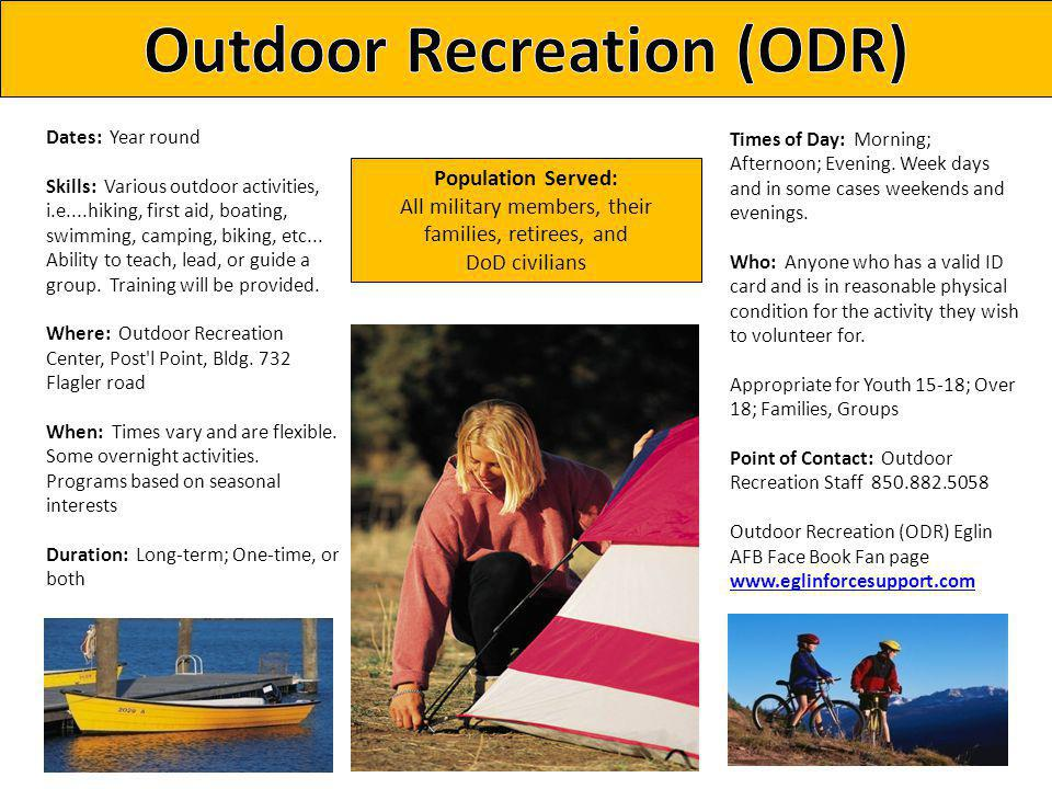Outdoor Recreation (ODR)