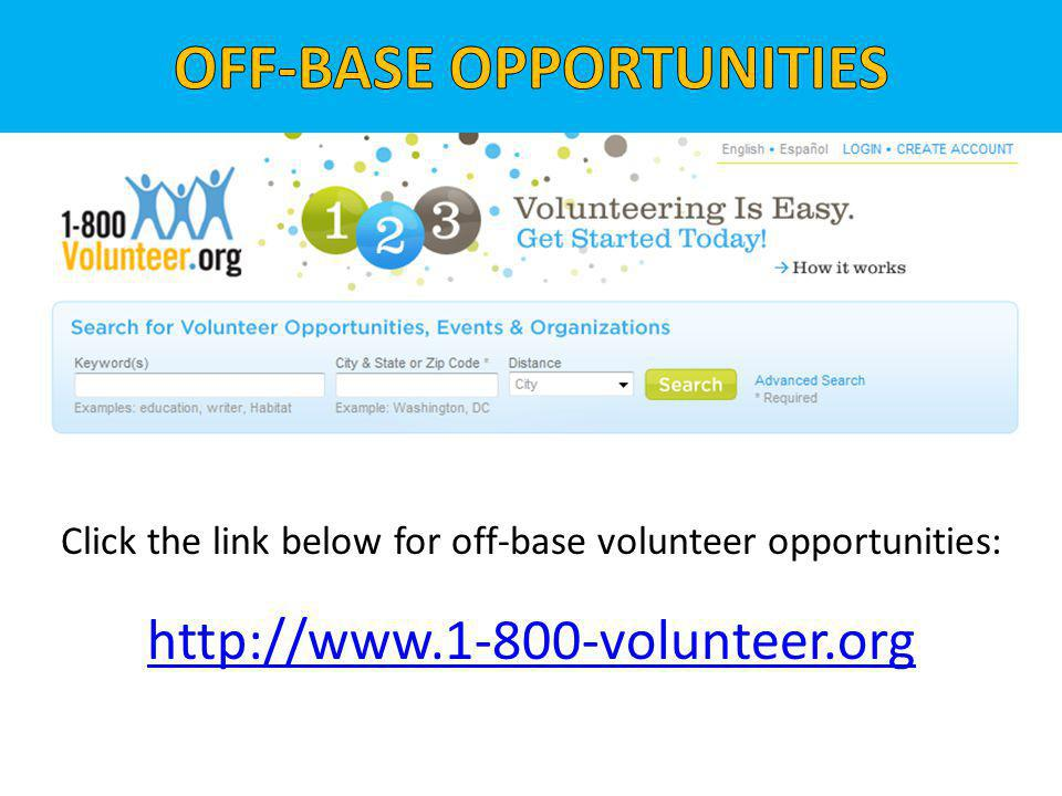 OFF-BASE OPPORTUNITIES