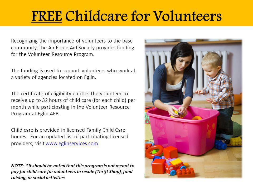 FREE Childcare for Volunteers