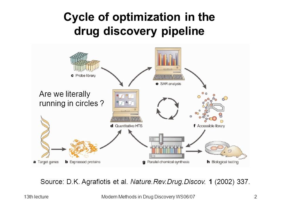 Cycle of optimization in the drug discovery pipeline