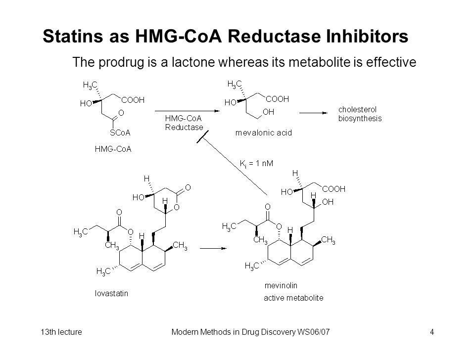 Statins as HMG-CoA Reductase Inhibitors
