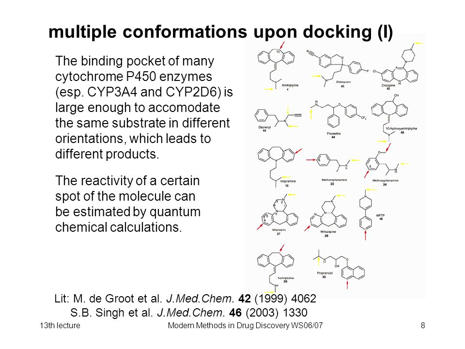 multiple conformations upon docking (I)