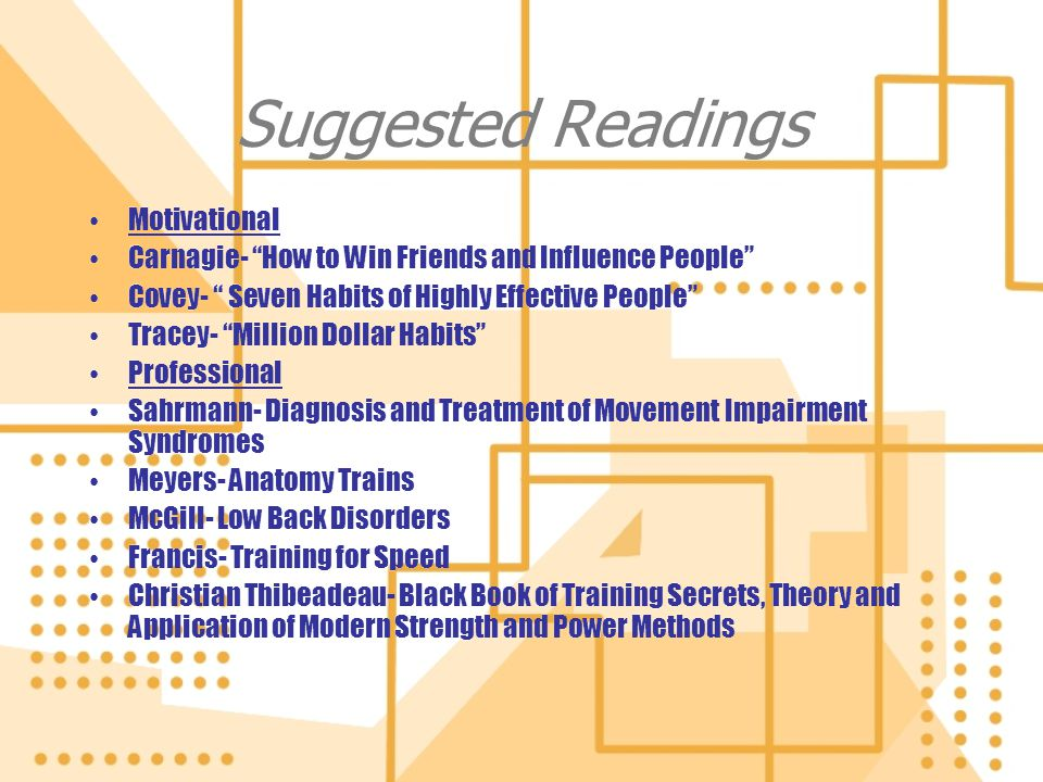 Suggested Readings Motivational