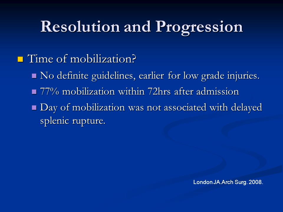 Resolution and Progression