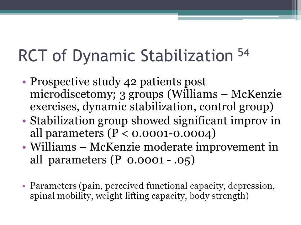 RCT of Dynamic Stabilization 54