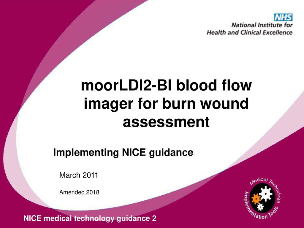 moorLDI2-BI blood flow imager for burn wound assessment - ppt download