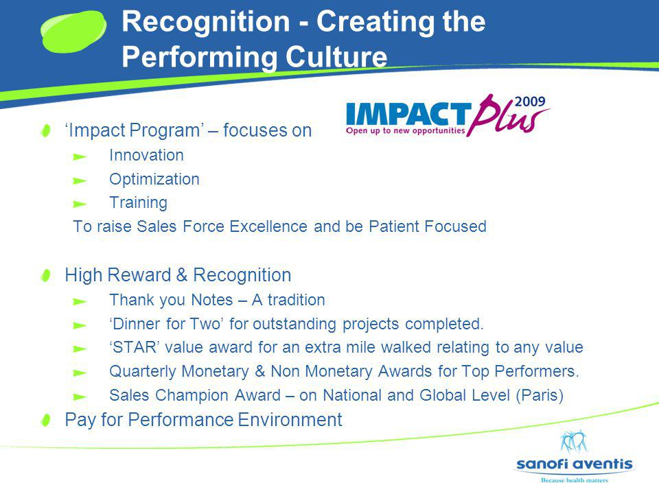 Recognition - Creating the Performing Culture