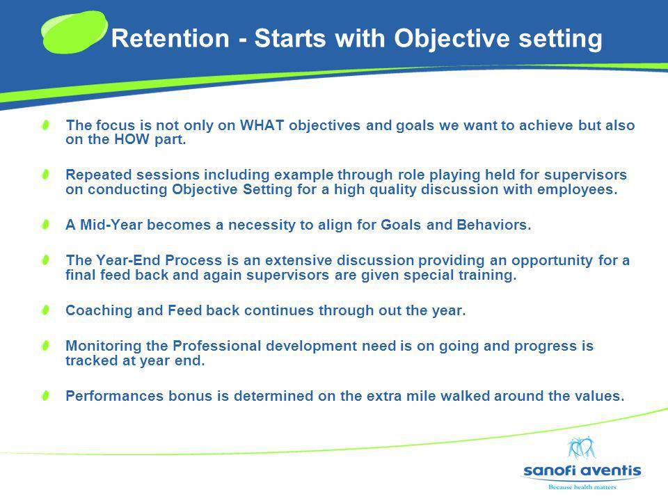 Retention - Starts with Objective setting