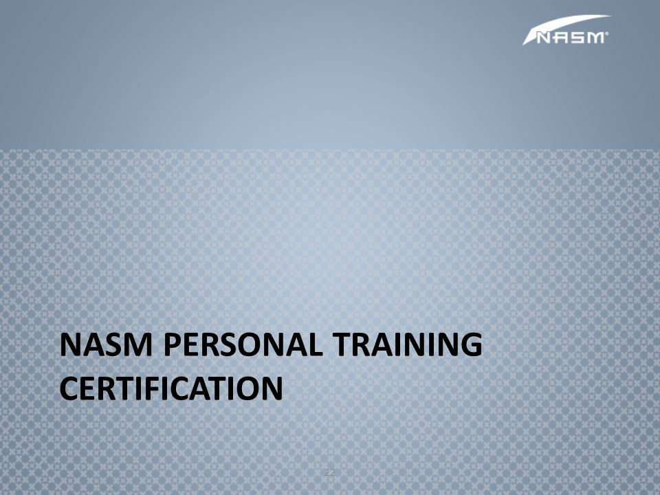 NASM Personal Training Certification