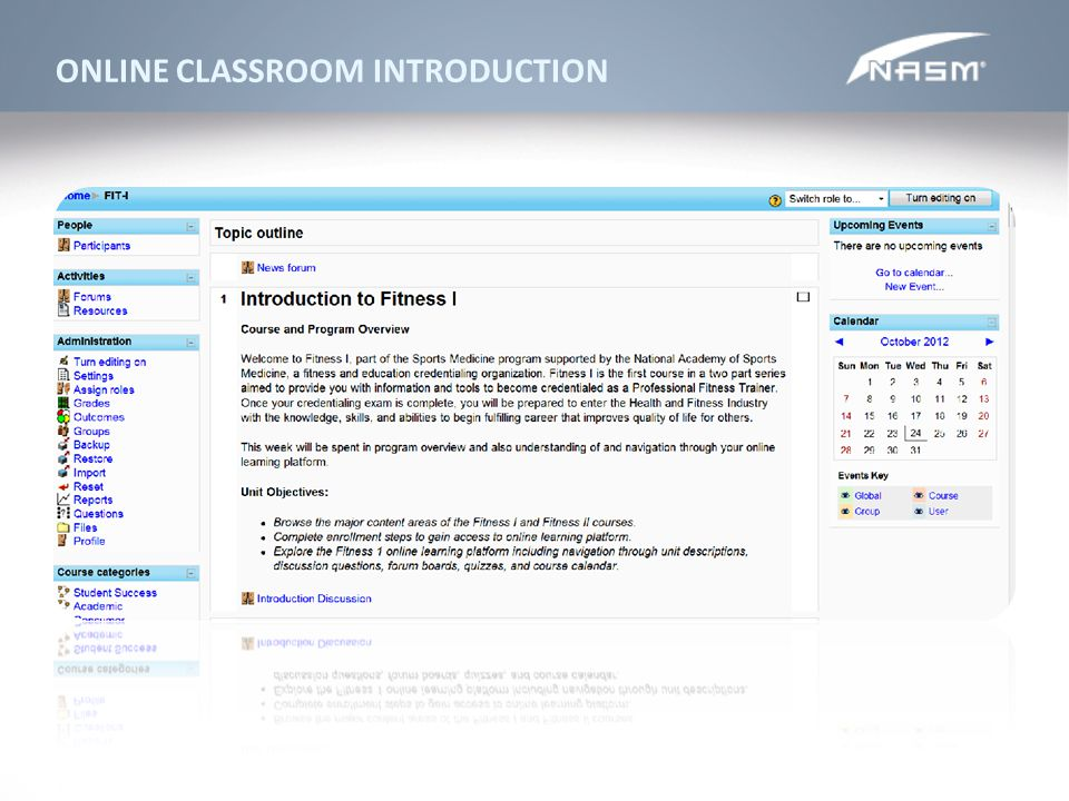 ONLINE CLASSROOM INTRODUCTION