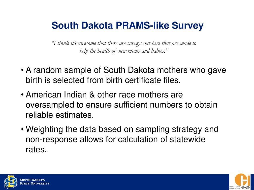 Pregnancy Risk Assessment Monitoring System Prams Survey Ppt