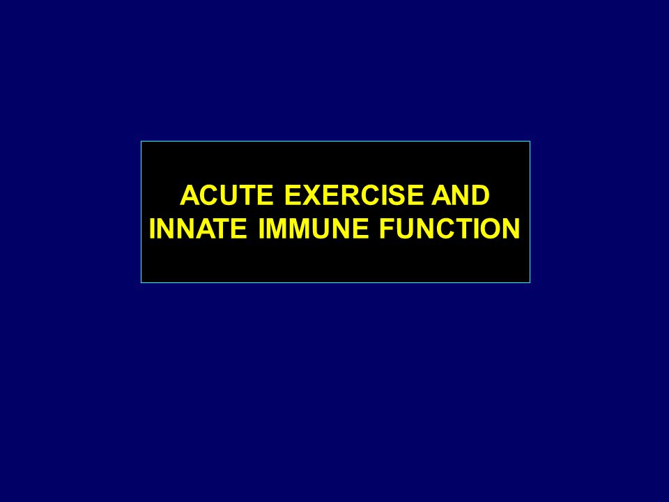 ACUTE EXERCISE AND INNATE IMMUNE FUNCTION