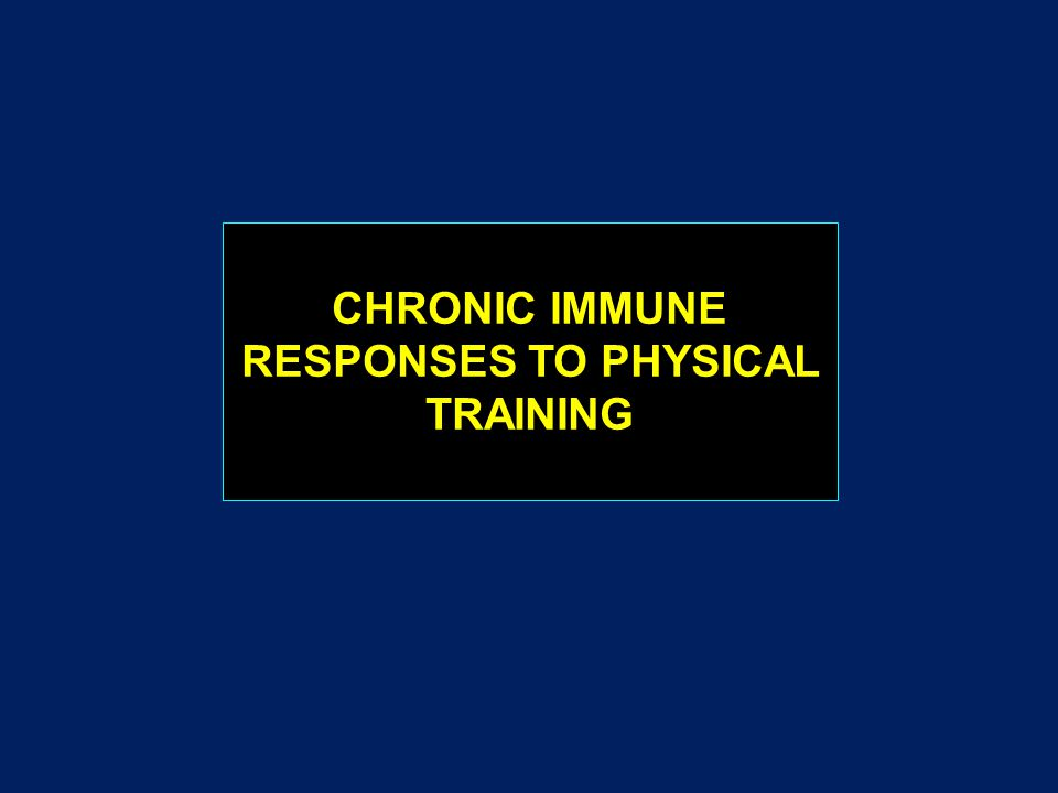 CHRONIC IMMUNE RESPONSES TO PHYSICAL TRAINING