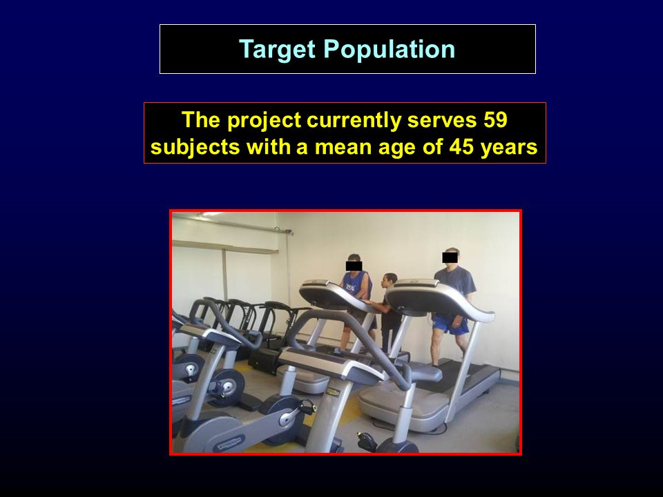 The project currently serves 59 subjects with a mean age of 45 years