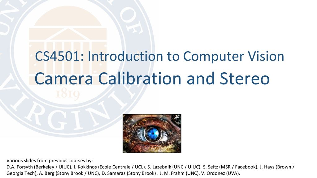 Camera Calibration and Stereo - ppt download