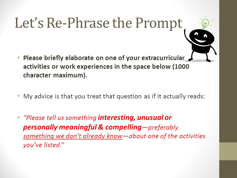 Let's Re-Phrase the Prompt